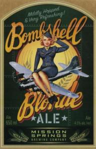 Bombshell Blonde Ale Label